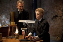 Sebastian Roche and Juliet Rylance as Pierre Curie and Marie Curie