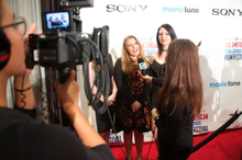 MTV News interviewing Hope Alexander at the 2014 All American High School Film Festival.