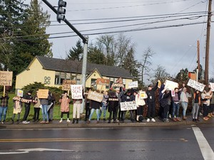 A February 20 protest aimed at getting the OCAC board's attention for the concerns of students and alumni.