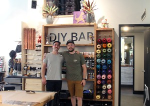 Adam (left) and Jason (right) Gorske, the owner's of Portland's DIY Bar, where crafters drink and make with equal enthusiam.