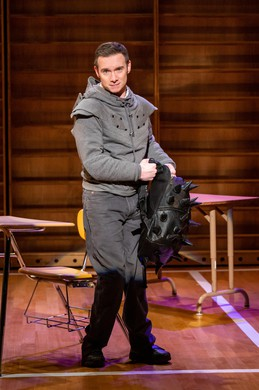 "Actor Christopher Imbrosciano, as Richard in Artists Repertory Theatre's production of Mike Lew's ""Teenage Dick"", an adaptation of Shakespeare's ""Richard III"", re-cast in a modern-day high school."