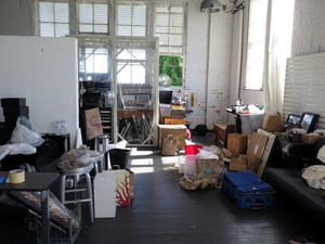 Jeweler and mixed-media artist Jennifer Gardner has worked out of this corner studio for 11 years. She says she will move some of her things to her one-bedroom apartment and some to a storage space, but she doesn't know where she's going to work in the future.