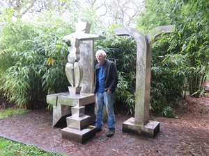Sculptor Lee Kelly at his studio in Oregon City.