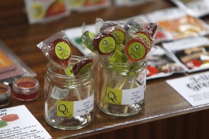 Edibles are displayed at the Shango Cannabis shop on the first day of legal recreational marijuana sales beginning at midnight in Portland, Oregon, Oct. 1, 2015.