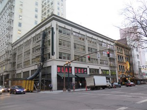 The Jack London bar is housed in the basement of this building at SW 4th and Alder.