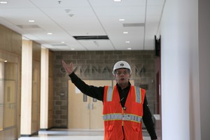 In this 2017 file photo, District Chief of Modernization Jerry Vincent led a tour through the remodeled Franklin High School.