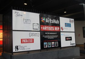 Artists Repertory Theatre's ArtsHub has provided office space, stages, and more for a dozen partnering non-profits.