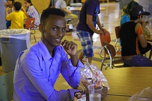 Abdimajid Mohamed is a refugee from Somalia. One thing he's excited about enrolling in an American school? Soccer.