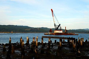 The Jordan Cove LNG export terminal project would require dredging in Coos Bay to allow for tanker traffic.