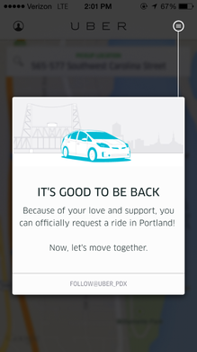 Uber and Lyft started operating in Portland Friday.