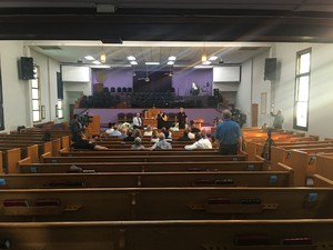 Portland Mayor Charlie Hales held a meeting Tuesday at the First Baptist Church, a historic African American church in inner northeast.