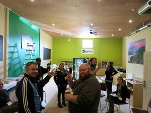 Inside The Cannabis Corner agovernment-operated pot shop in North Bonneville, Washington, employees are training for opening day.