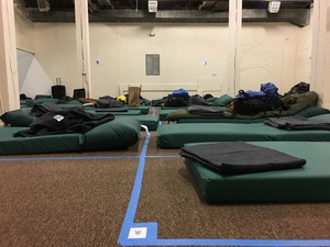 The Peace II Shelter provides sleeping mats for up to 60 men.