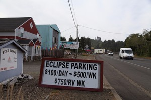 Many people are charging large amounts of money for things such as parking during the Oregon eclipse.