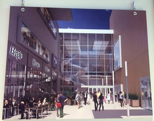 A mock-up of the renovations coming to Lloyd Center Mall in Portland.