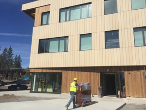 The new academic building on the OSU-Cascades campus in west Bend is slated to open Sept. 13, 2016.