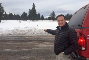 J L Ward land manager Dean Wise points to the 350 acre swath of land just incorporated into Bend's new Urban Growth Boundary. He thinks it would be better served by being filled with single family homes, rather than commercial and industrial projects.