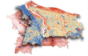 A layered map of the city could help pinpoint the places that are most vulnerable in heat waves.