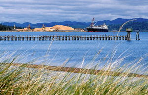 The proposed liquified natural gas pipeline would terminate north of Coos Bay at a proposed LNG plant at Jordan Cove.