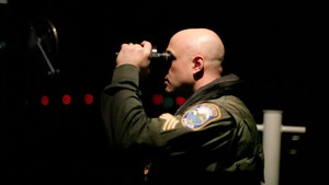 Sgt. Erik Olson, WFDW, patrols Puget Sound by night looking to catch shellfish poachers in the act.