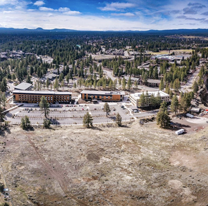An aerial view of the expansion site.