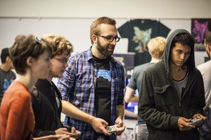 Players at Eugene's Indie Game Con