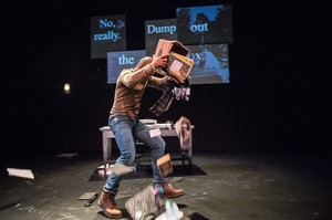 """Vin Shambry tells five stories about guns, from learning to shoot to behind held up, in """"The Gun Show"""" at Coho Theater."""
