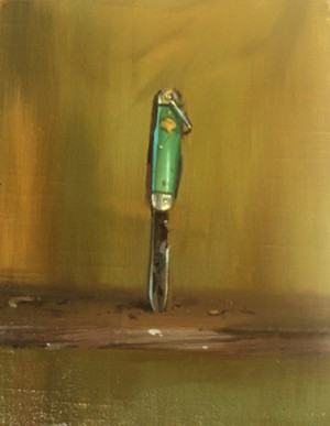 "Even established downtown galleries like Froelick offer works for under $1,000, such as ""Girl Scout Knife A"" by Gabriel Liston."
