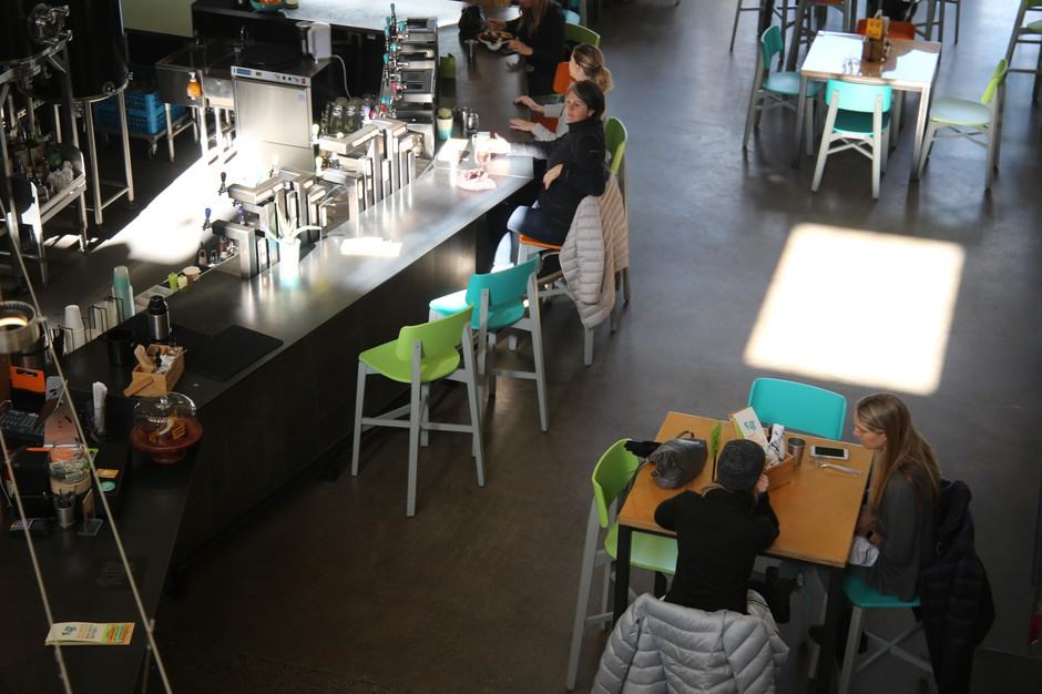 Riff's taproomin Bend, Ore., specializes in cold-brewed coffee products.