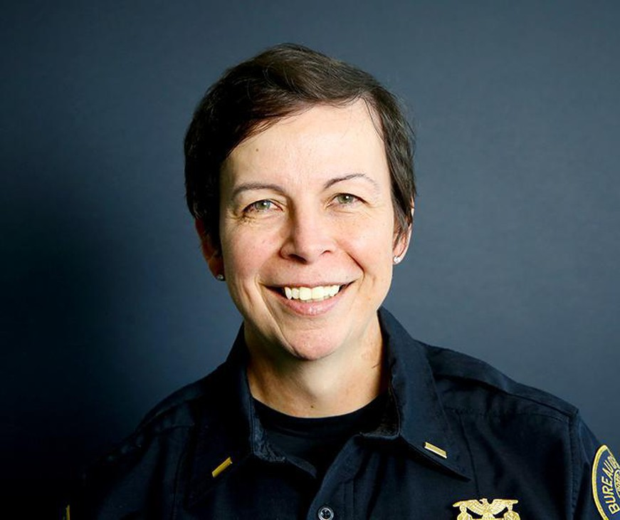 Stephanie Lourenco is the first transgender officer promoted to the rank of captain.