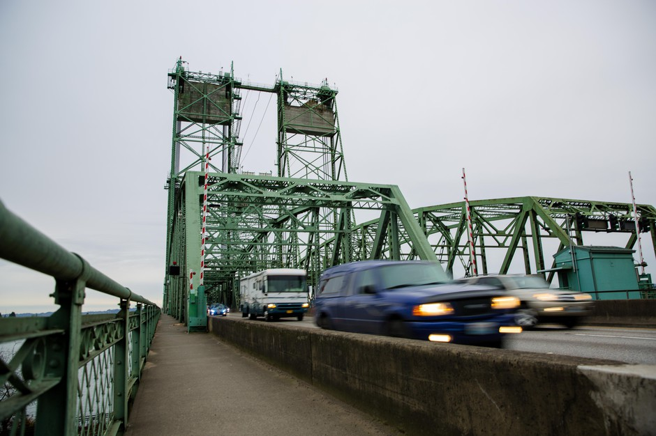 The Interstate 5 bridge connecting Washington and Oregon across the Columbia River as seen from Vancouver, Washington, Saturday, Dec. 15, 2018.
