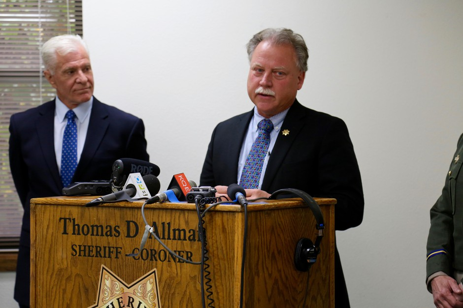 Mendocino County Sheriff Tom Allman gave a statement after a verdict was reached on an inquest into the deaths of the Hart family members, Thursday, April 5, 2019.