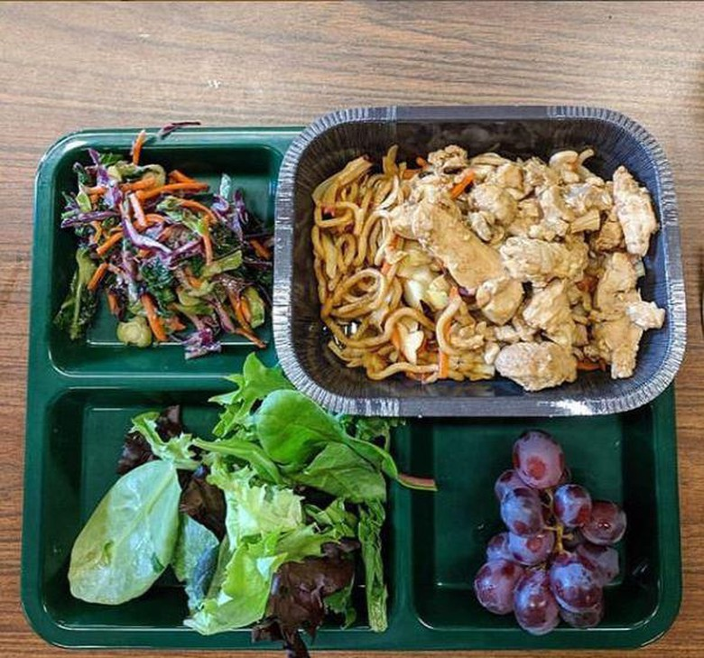 Yakisoba from Umi Organic Noodles served in Portland Public Schools.