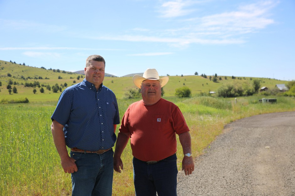 Will Homer and his father, Merton Homer, own and operate Painted Hills Natural Beef in Fossil, Ore.