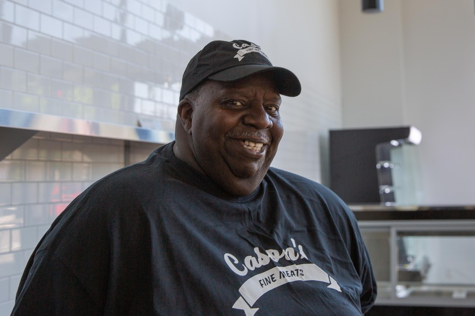 Theotis Cason is opening his brand new shop, Cason's Fine Meats, at Alberta Commons. He has been butchering for 40 years but this will be the first shop he calls his own.