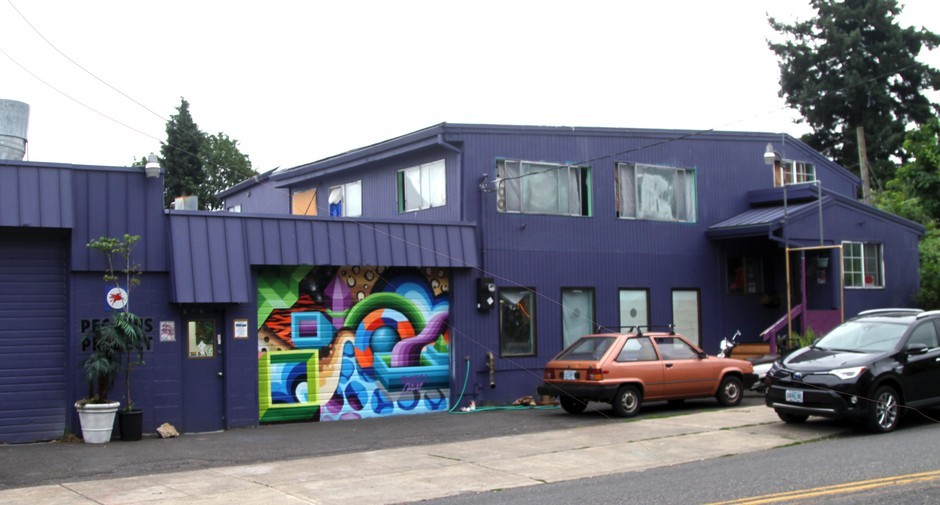 The Pegasus Project, at SE 76th and Stark, is home to about a dozen artists and other creatives.