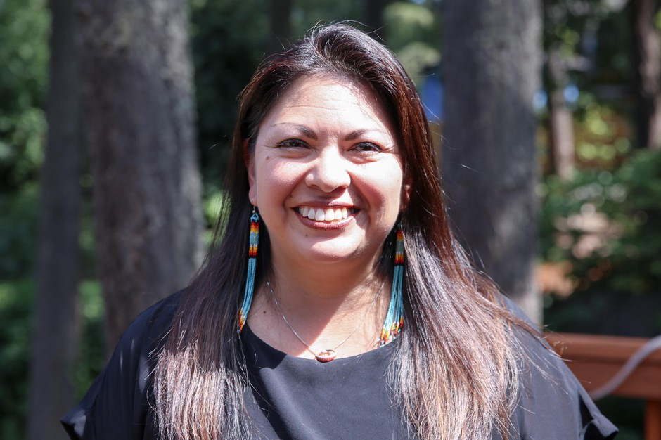 Shadiin Garcia, a consultant for Education Northwest, at the South Umpqua School District office in Myrtle Creek, Ore., Sunday, Aug. 29, 2019. Garcia will help develop four local, tribe-specific sets of lessons for the Cow Creek Band of Umpqua Tribe of Indians, Confederated Tribes of Siletz Indians, Burns Paiute of Harney County and the Coquille Indian Tribe.