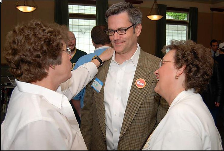 Former Portland Mayor Sam Adams is running for the city council seat held by Chloe Eudaly.