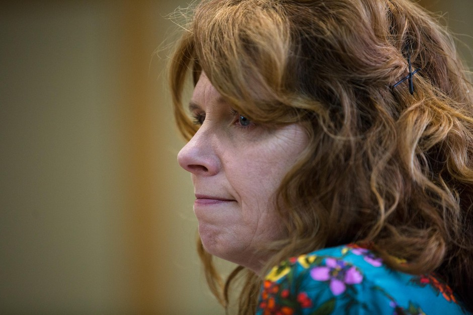 Oregon State Rep. Christine Drazan, R-Canby, listens to testimony during the Joint Committee on Ways and Means Subcommittee on Education at the Capitol in Salem, Ore., Tuesday, April 2, 2019. The committee heard testimony concerning the budget of the Higher Education Coordinating Commission.
