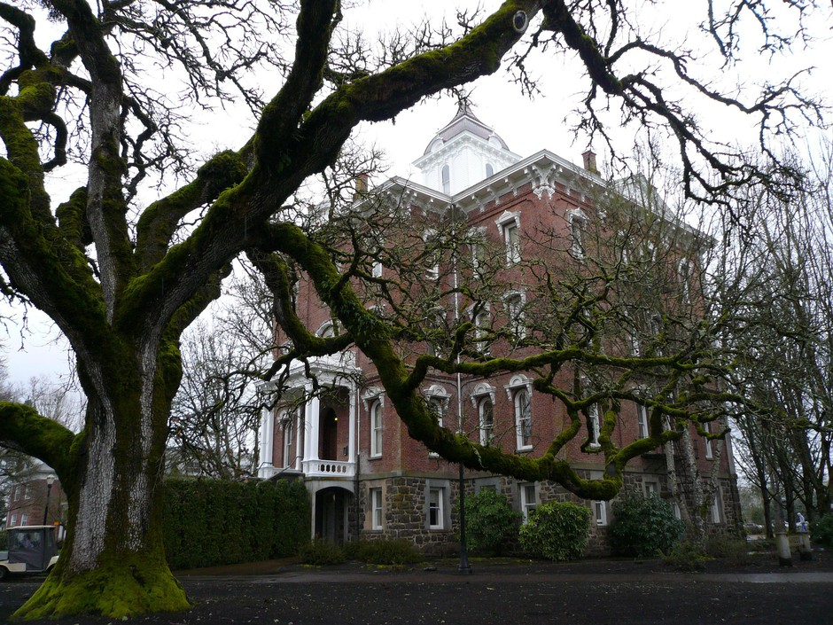 Pioneer Hall at Linfield College is pictured March 1, 2007, in McMinnville, Ore.