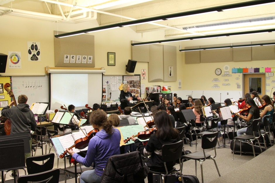 At Ron Russell Middle School, orchestra is offered to students starting in fifth grade.