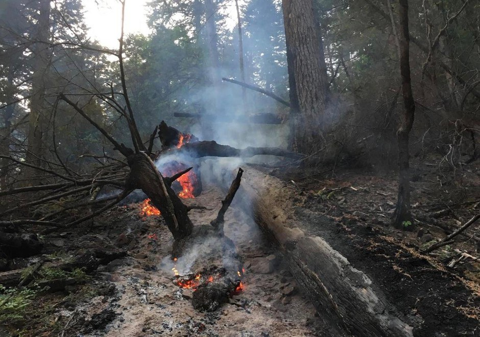 A hot spot in the Eagle Creek Fire was spotted at 2 a.m. Tuesday near the Herman Creek Trailhead.