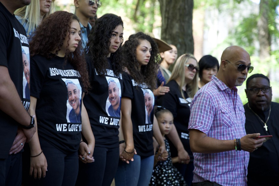 The family of Jason Washington, the man shot by Portland State University police officers, are calling on the university to disarm its officers.