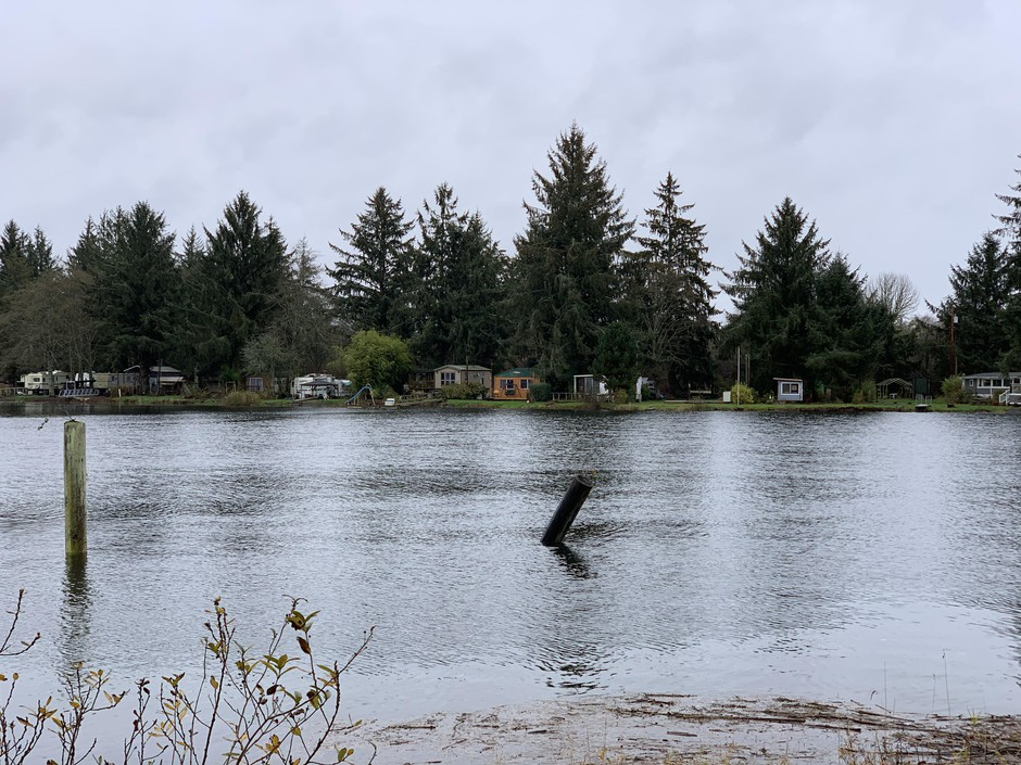 Many houses in Nehalem, Oregon, are just a few feet above sea level at high tide.