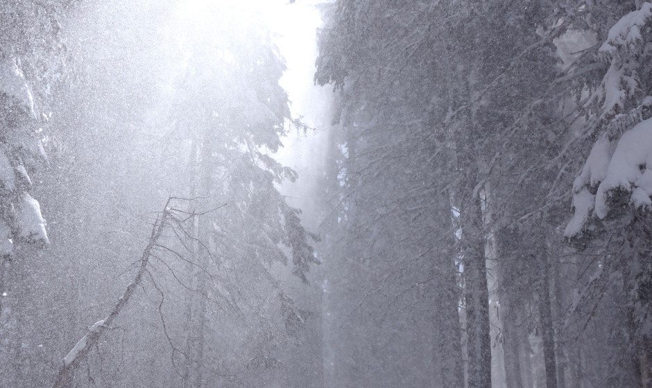 Snow falls on Mount Ashland. Snow here drains into both the Klamath and Rogue basins.