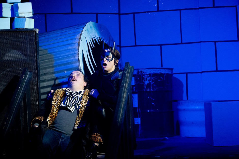 "Sean Tillman (Har Mar Superstar) and Sabrina Ellis (A Giant Dog) are reprising their roles as Penguin and Batman for the Portland premiere of the irreverent, satirical musical, ""Batman Returns Returns."""