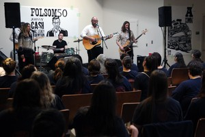 "The Portland band Luther's Boots playing Johnny Cash's ""At Folsom Prison"" concert at the Coffee Creek Correctional Facility."