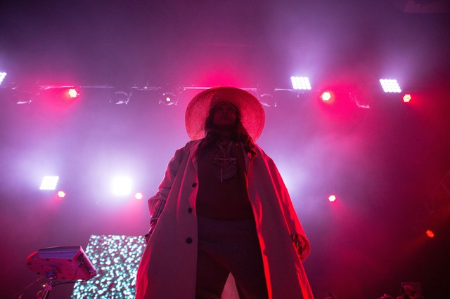 Erykah Badu performs the Soul'd Out Music Festival at Arlene Schnitzer Concert Hall, Wednesday, April 18, 2018.