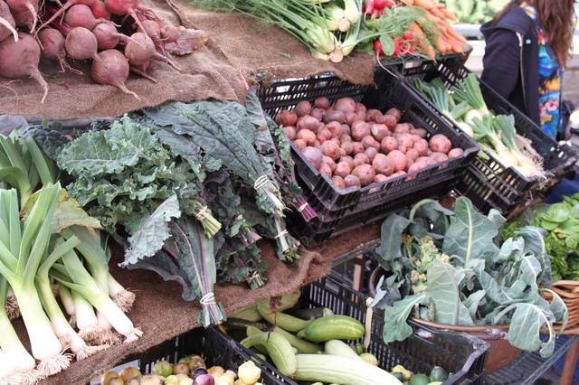 Bend residents can find local vegetables at the Wednesday farmers market in downtown.
